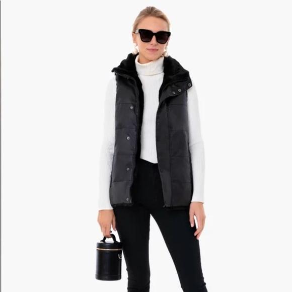 Tuckernuck Jackets & Blazers - Black Emilia Wax Reversible Vest